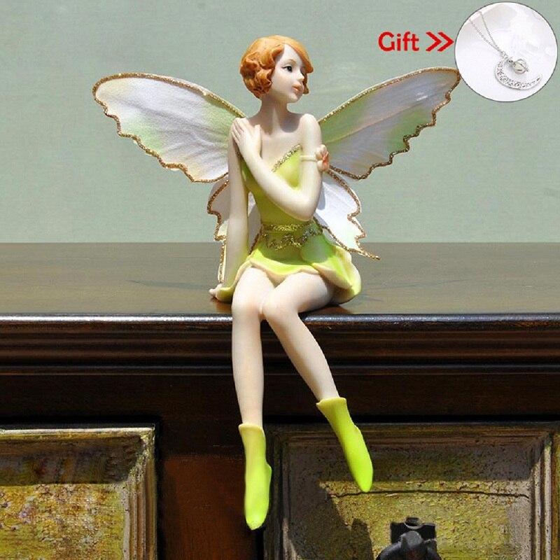 Летающий цветочный Сказочный Творческий статуя Подарки Смола декоративные аксессуары для автомобиля сувенир подарок на день рождения ремесла|Статуи и скульптуры|   | АлиЭкспресс
