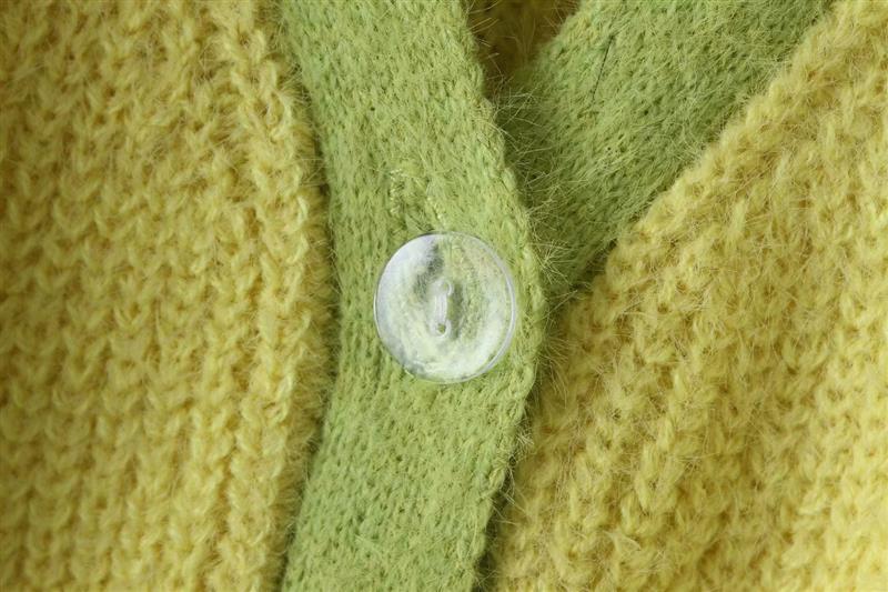 Pink cardigan womens sweaters korean crop sweater yellow autumn tops short sleeve v neck short cardigan mohair sweater fall 19 14