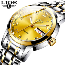 LIGE Women Watches Simple Stainless Stee