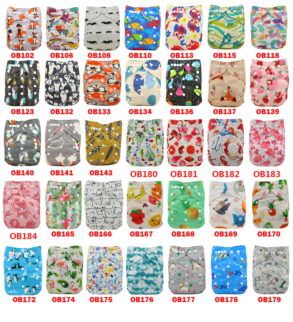 Ohbabyka 10pcs/Lot Cloth Diaper Inserts With Gussets Elastic Bamboo Charcoal Nappy Inserts Couches Lavables Baby Diaper Cover