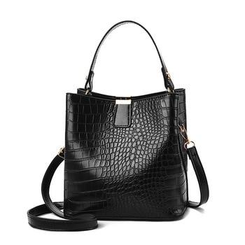 Shoulder Messenger Bags Retro PU Alligator Bag Bucket Women Crocodile Pattern Handbag Ladies Purse