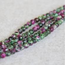 Pierres rondes en calcédoine, 6mm, nouvelles facettes, vert rouge, zoexquis, en vrac, bijoux faisant la conception en gros