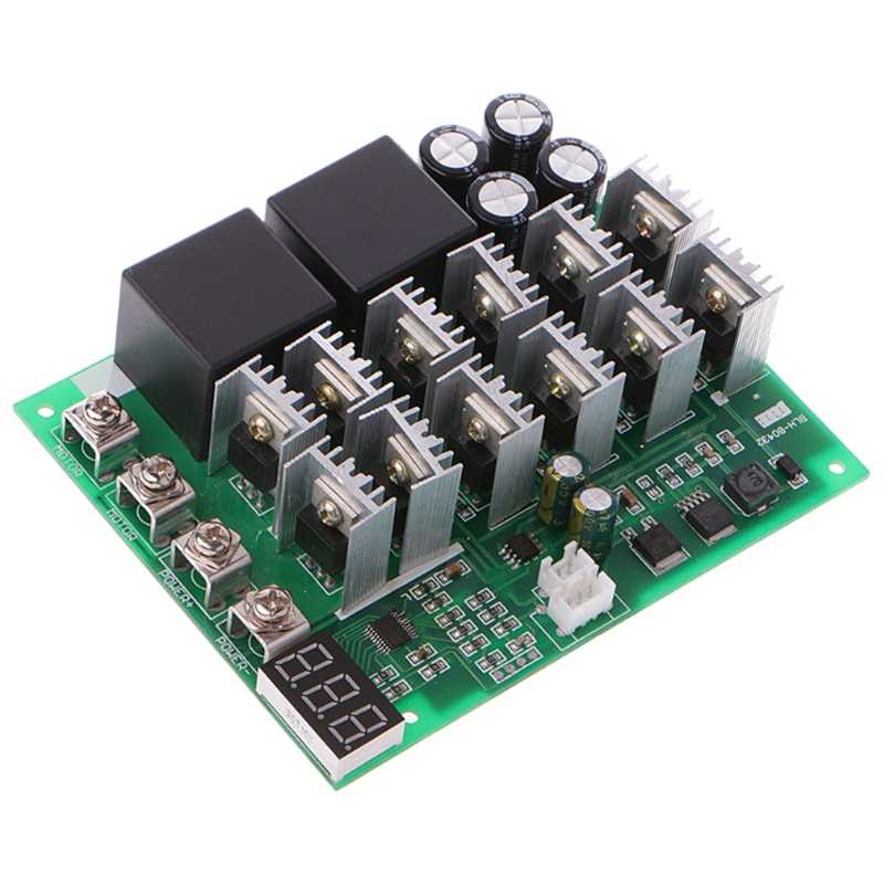 WSCHENG/® Interruptor regulador de Velocidad DC 10-55V 12V 24V 36V 48V 55V 100A Motor PWM HHO RC Control inversa con Pantalla LED