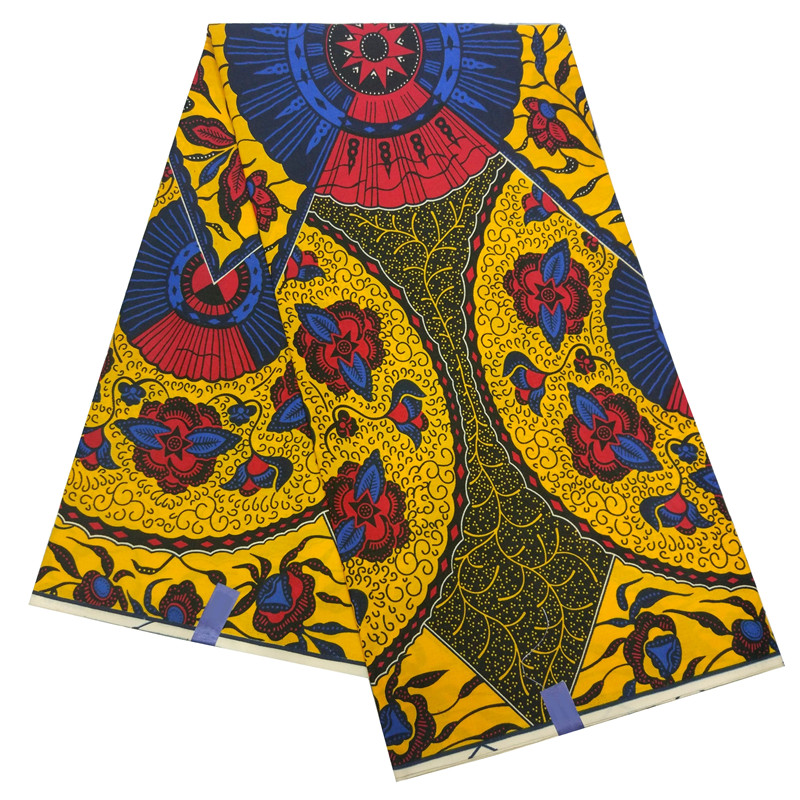 Real Wax African  Ankara Africa Wax Floral Print For Fabric