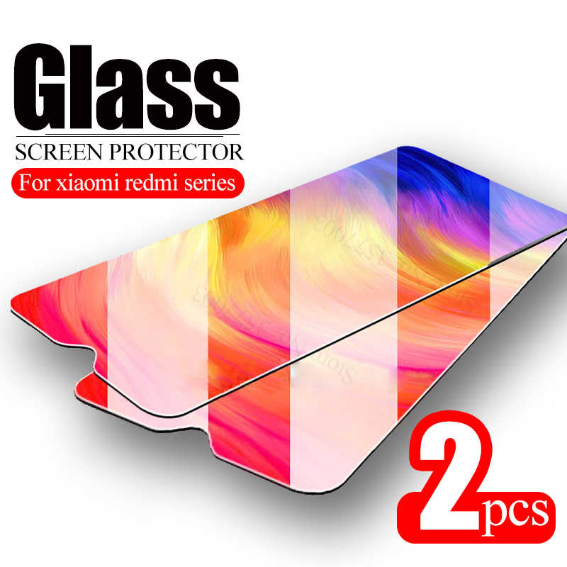 2pcs Tempered glass For xiaomi redmi 7a note 7 6 pro 6a a 4 4x s2 screen protector on xaomi red mi 5 plus safety protective Glas