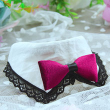 Cute Pet Collar Necklace Handmade Dog Cat Kitten Puppy Collar AdjustableJewelry Necktie Lace Bandanas Seat-belt Buckle(China)