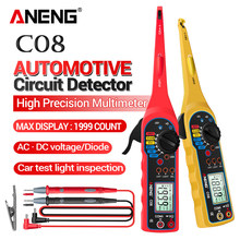 ANENG C08 cyfrowy multimetr tranzystor samochodów testery 1999 zlicza True RMS Auto elektryczny miernik pojemności odporność 0V-380V