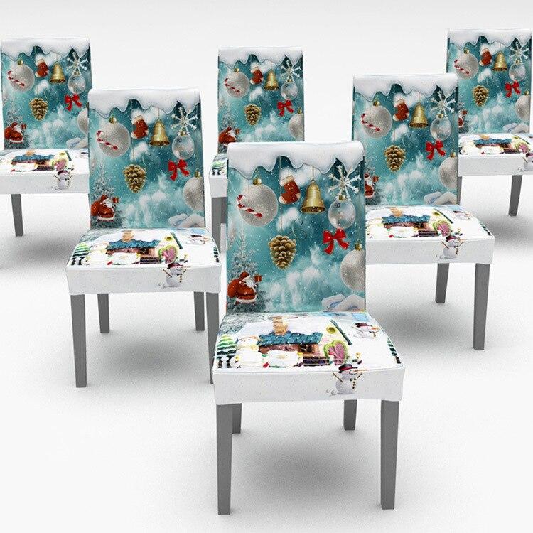 Funda de silla decorativa de Navidad para silla elástica fundas de silla para fiesta de Navidad comedor banquete Hotel Cocina