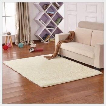 Alfombra de lana de 16 colores para sala de estar/dormitorio alfombra suave antideslizante gris blanco negro marrón rosa púrpura alfombra para sala de estar