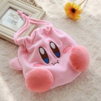 10pc/lot Kirby Star Plush Purse Plush Drawstring Pocket Drawstring Bag Plush Coin Bag Coin Purse Plush Toys Girls Gift T162