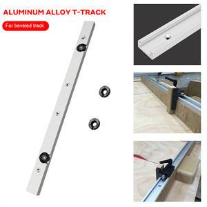 Hardware Slider Miter-Tool Track Woodworking Silver Bar Metal Pusher Chute Beveled Limit