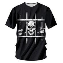 Ifpd ЕС Размеры Летняя мужская одежда тюрьмы череп 3d печатных