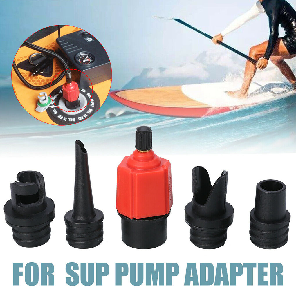 Sup Air Pump Adapter Inflatable Paddle Rubber Boat Kayak Air Valve Adaptor Tire Compressor Converter 4 Nozzle
