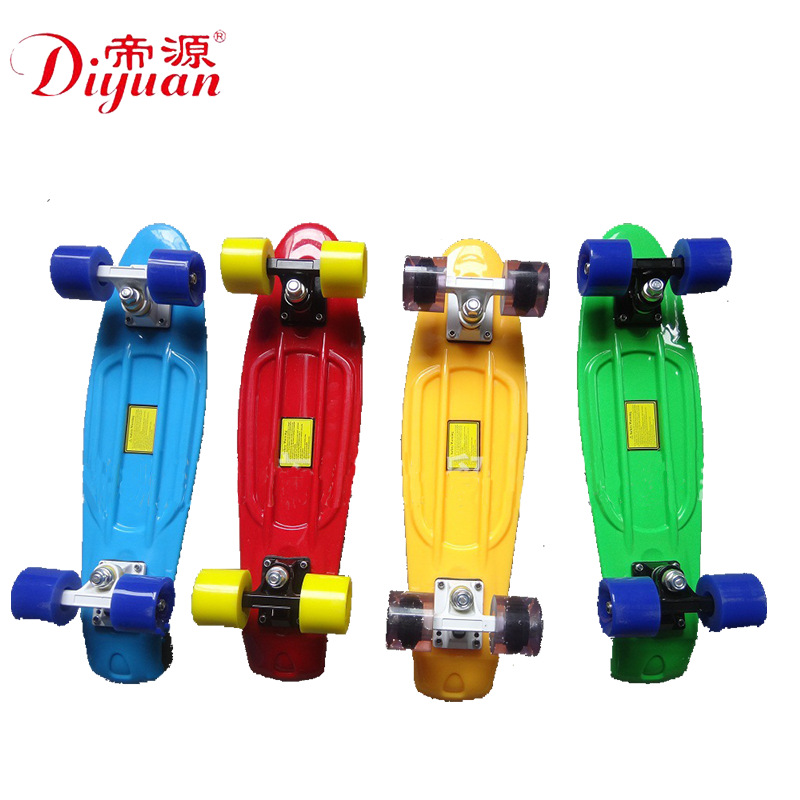 Manufacturers Direct Selling 22-Inch Fish Skateboard Color Fish Boards Plastic Four Wheel Skateboard-Mix And Match Adult Childre