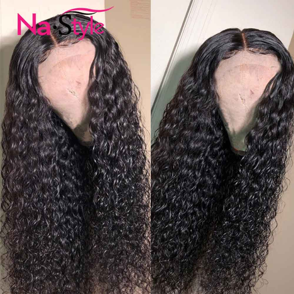 Image 5 - Curly Wig Deep Part 13x6 Lace Front Human Hair Wigs Transparent Lace Wigs Preplucked Peruvian Lace Front Wigs Natural Hair Remy-in Human Hair Lace Wigs from Hair Extensions & Wigs