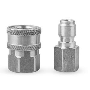 Image 1 - NPT 3/8 inch Quick Connect Schuim Wasmachine Nozzle Adapter Rvs Hogedrukreiniger Connector Adapter Auto Accessoires