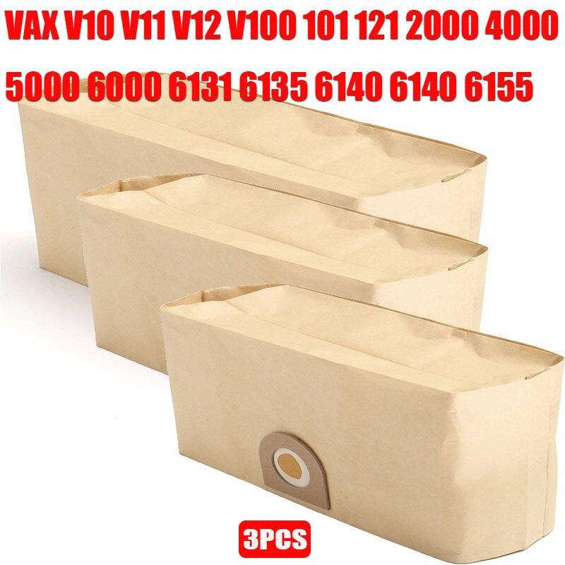 3pcs Of Vacuum Cleaner Parts Dust Filter Bags For VAX V10 V11 V12 V100 101 121 2000 4000 5000 6000 6131 6135 6140 6140 6155