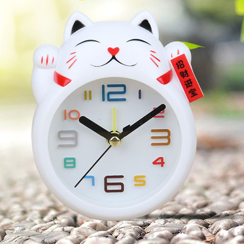 Chinese Lucky Clock Feng Shui Figure Clock in Colourful Box Kids Alarm Clock