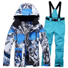 2019 Women's And Men Skiing Suit Winter Snow Sportswear Couple Outdoor Waterproof Windproof Warm Snowboarding Jacket Pants Sets цены онлайн