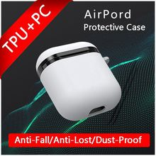 Airpod Case Cover 1:1 TWS Bluetooth Earphone Pouch Silicone PC Air Case For Original Apple i7S i12 i10 i30 i200 TWS Cover Pods(China)