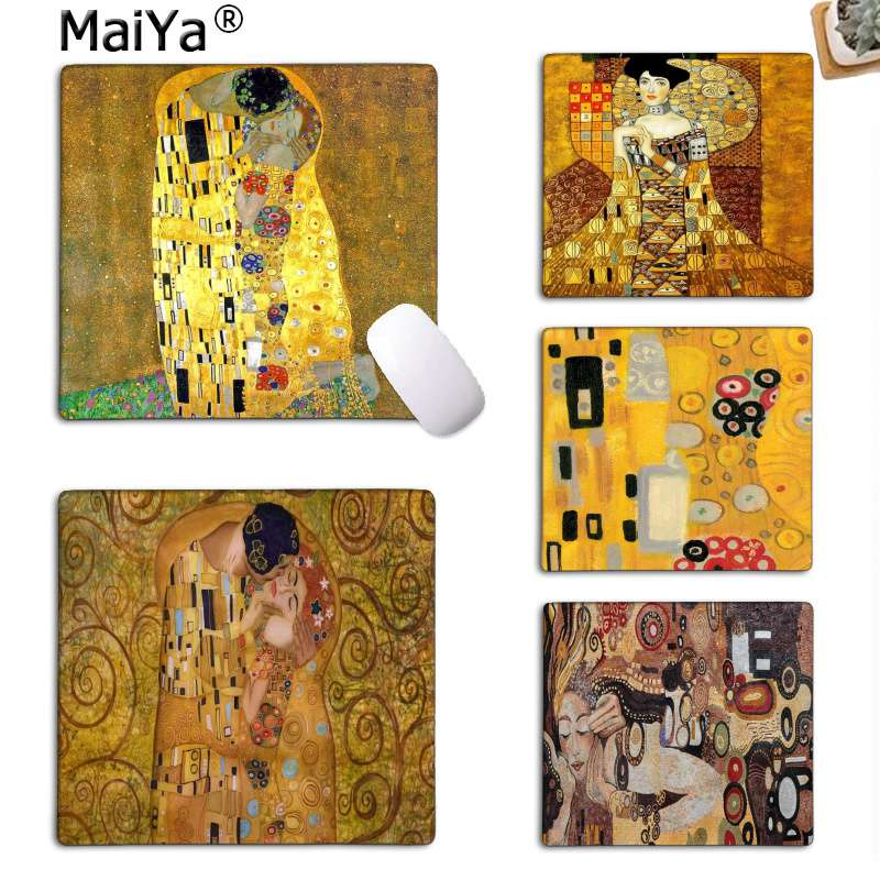 MaiYa  The Kiss Gustav Klimt DIY Design Pattern Game Mousepad Rubber PC Computer Gaming Mouse Pad