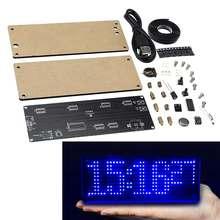SMD LED Dot Matrixs Digital Clock Production Kit Electronic DIY Clock Kit