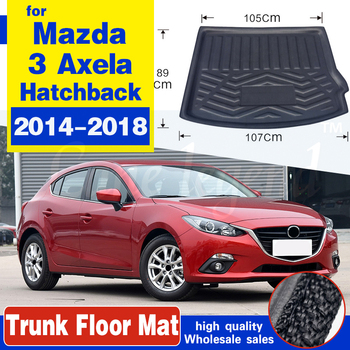 For Mazda 3 Axela 2014 2015 2016 2017 2018 Hatchback Boot Mat Rear Trunk Liner Cargo Floor Tray Carpet Protector Car Accessories image
