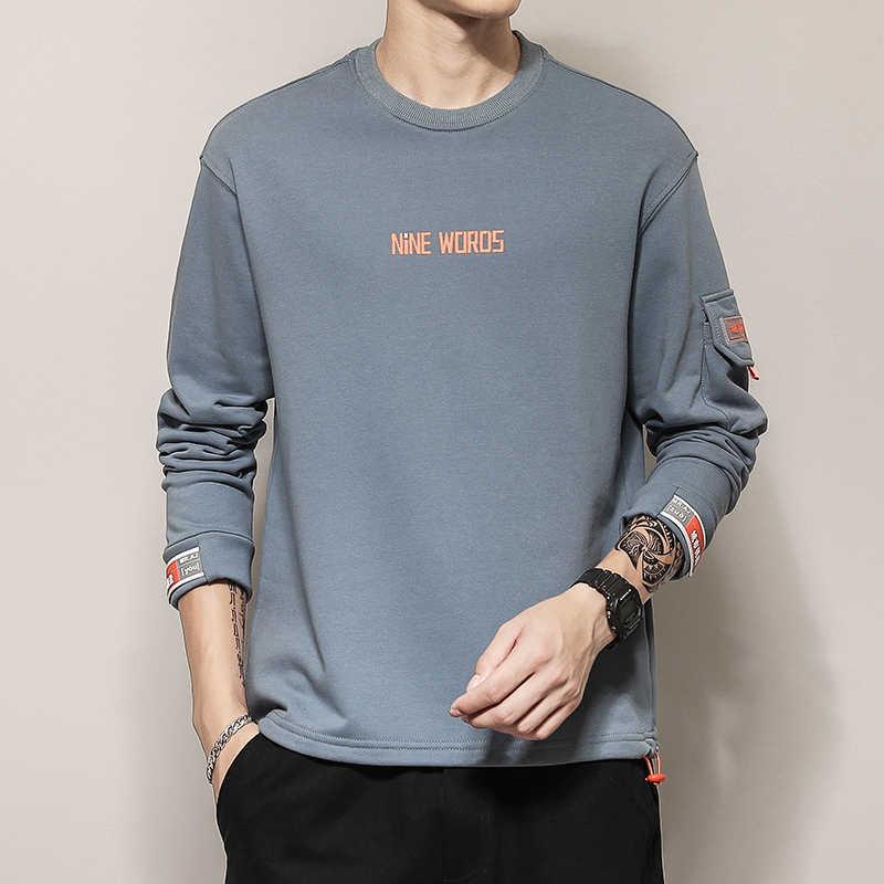 Pria Remaja Hip Hop Mens 2019 Musim Gugur Pullover Kasual Berkeringat Hoodie untuk Remaja Fashion Skateboard Kaus Pria CY112
