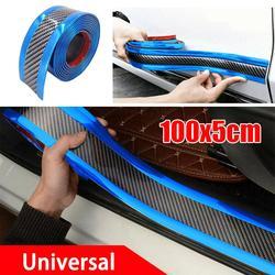 Hot Carbon Fiber Rubber Moulding Strip Soft Black Trim Bumper Strip DIY Door Sill Protector Edge Guard Car Stickers Car Styling