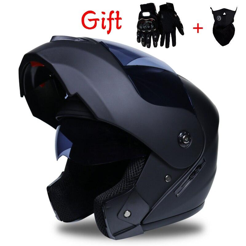 Motorcycle Helmet Motorbike Modular Dual Lens Motocross Moto Flip Up Helmet Casco Capacete Casque Moto S M L XL