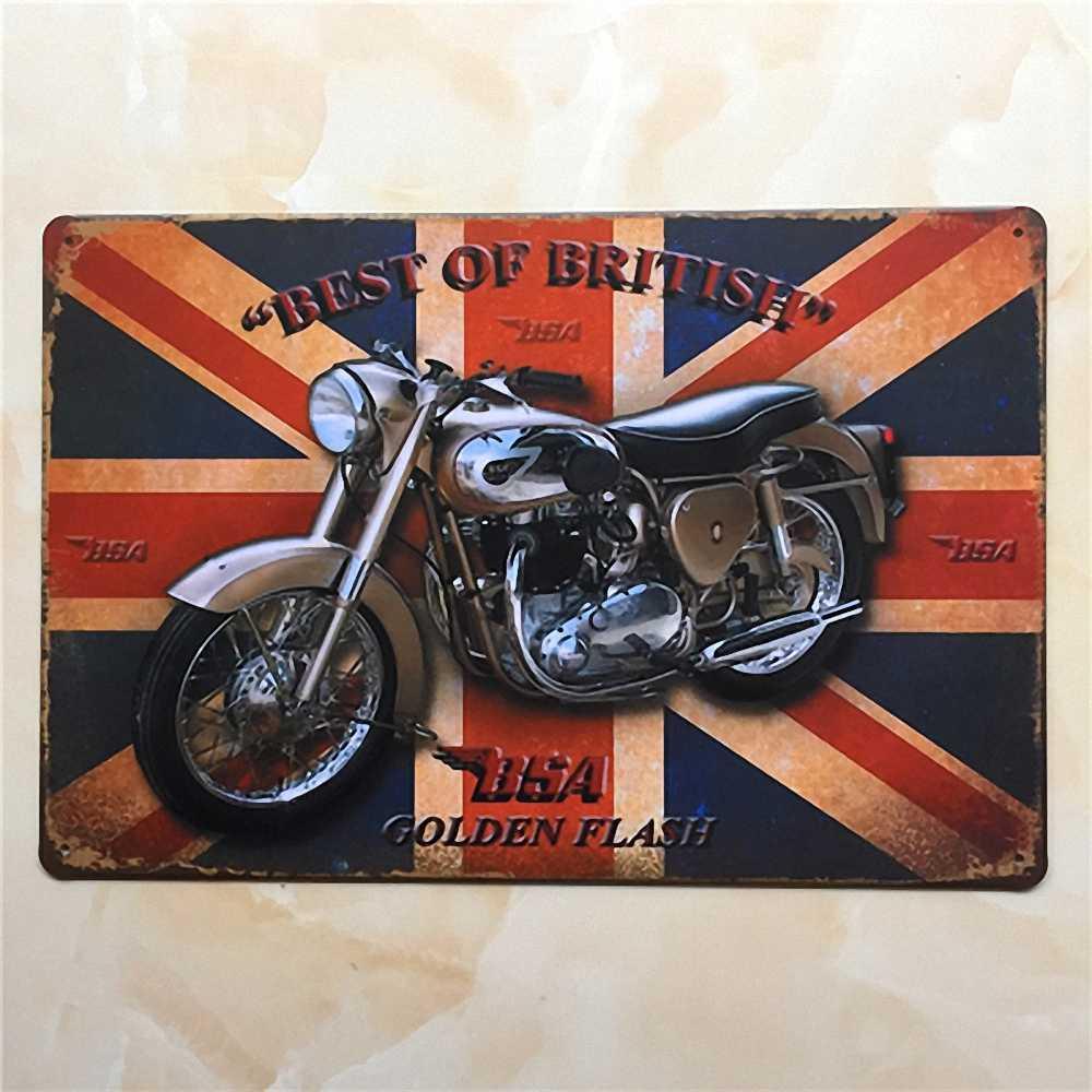 Vintage estaño signos retro motocicleta, autobús y coche metal signo antigüedad de imitación en hierro placa pintura decoración para bar Café pub Restaurante 27
