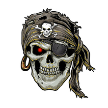 Car Sticke Stylish Pirate Skull Motorcycle Car Window Stickers Terror Personality Cover Scratches    PVC 12cm*15cm pirate mcsnottbeard in the zombie terror rampage