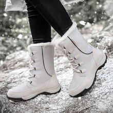 New Ladies High Top Snow Boots Outdoor Hiking Leisure Boots Women Winter Non-slip Wear Climbing Shoes Plus Velvet Warm Sneakers hiking boots women waterproof mouantain shoes winter snow boots for women anti slip outdoor trekking sneakers ladies boots