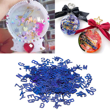 10g English Alphabet Sequins Glitter Epoxy Resin Fillings Letter Mold Silicone Jewelry Making Findings
