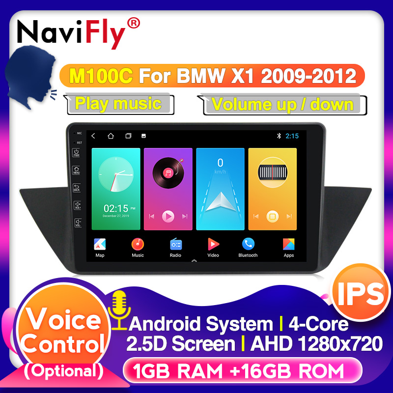 Navifly Voice Control Player For BMW X1 E84 2009-2013  Android Car Gps Radio No DVD 2 Din