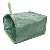 Jardim verde gramado folha quintal resíduos saco grande limpar recipiente tote jardinagem lixo reutilizável sacos de armazenamento de lixo|Sacos crescimento| |  -