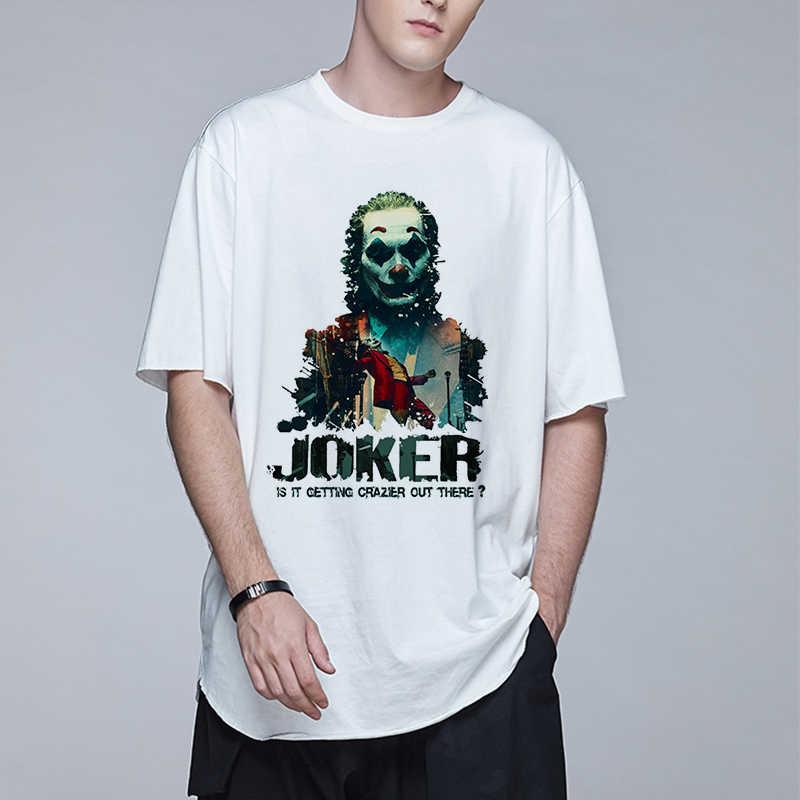 Populaire Film En Televisie Hoofdpersoon Mannen Tee Joker Losse En Harajuku Stijl Straat Mannen T-shirts Katoen Shortsleeved Mannen Tee