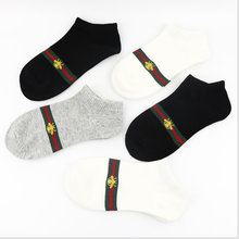 Couple Socks Embroidery Business Cotton Sweat-Absorbent Breathable Men's Casual New
