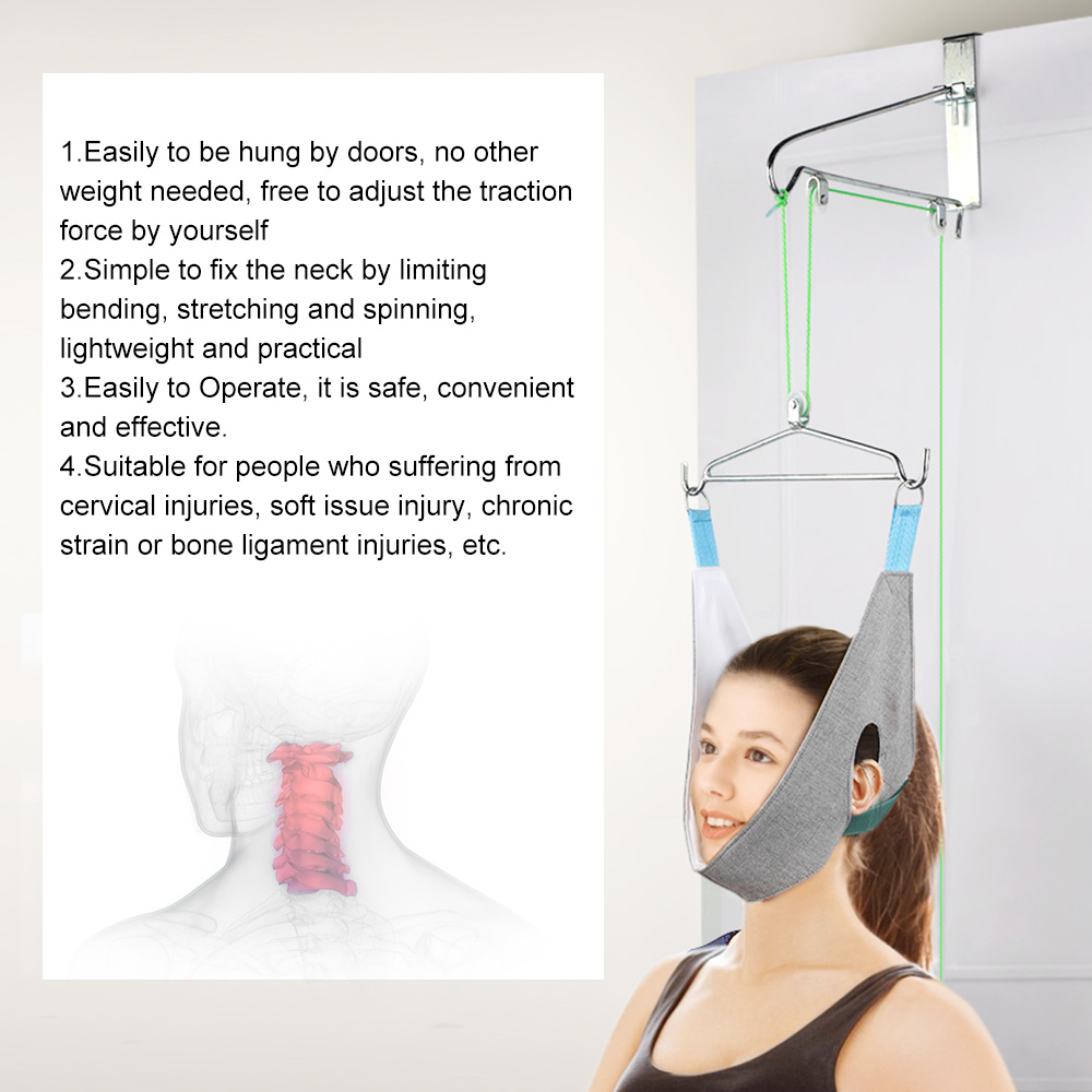 Hanging Neck Traction Kit Adjustable Cervical Traction Device Chiropractic Neck Neck Orthosis Traction Frame Home Care Tools(China)