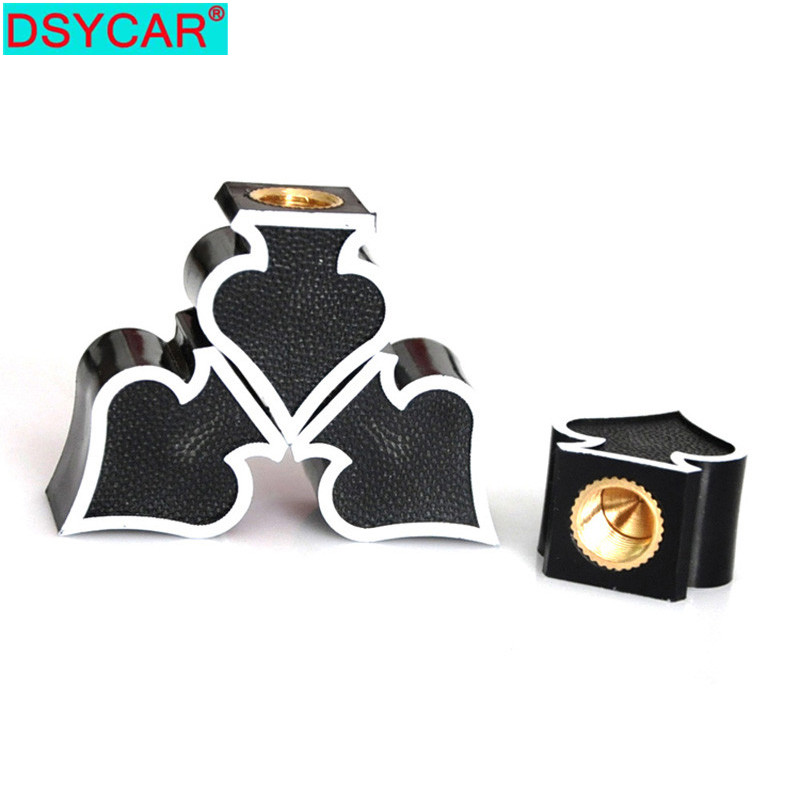 DSYCAR 4Pcs/lot Universal Car Moto Bike Tire Wheel Valve Cap Dust Covers Car Styling For Fiat Audi Ford Bmw VW Honda Opel Car