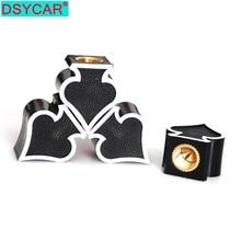 4Pcs/Set Custom Black Ace of Spades Wheel Tire Air Valve Stem Cover Caps