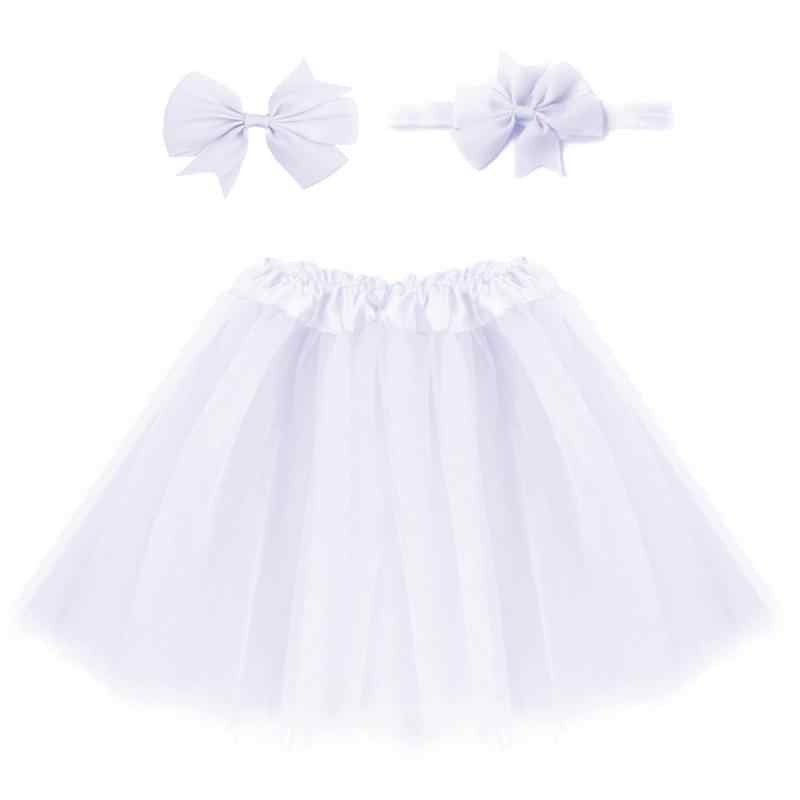 신생아 아기 소녀 멀티 컬러 스커트 머리 장식 세트 꽃 사진 프로 패션 레이스 솔리드 컬러 아기 의류