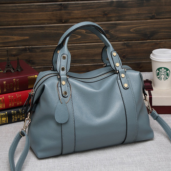 Female Large Capacity Top-handle Bags High Quality Leather Women Handbags Luxury Ladies Boston Shoulder Crossbody - discount item  35% OFF Women's Handbags