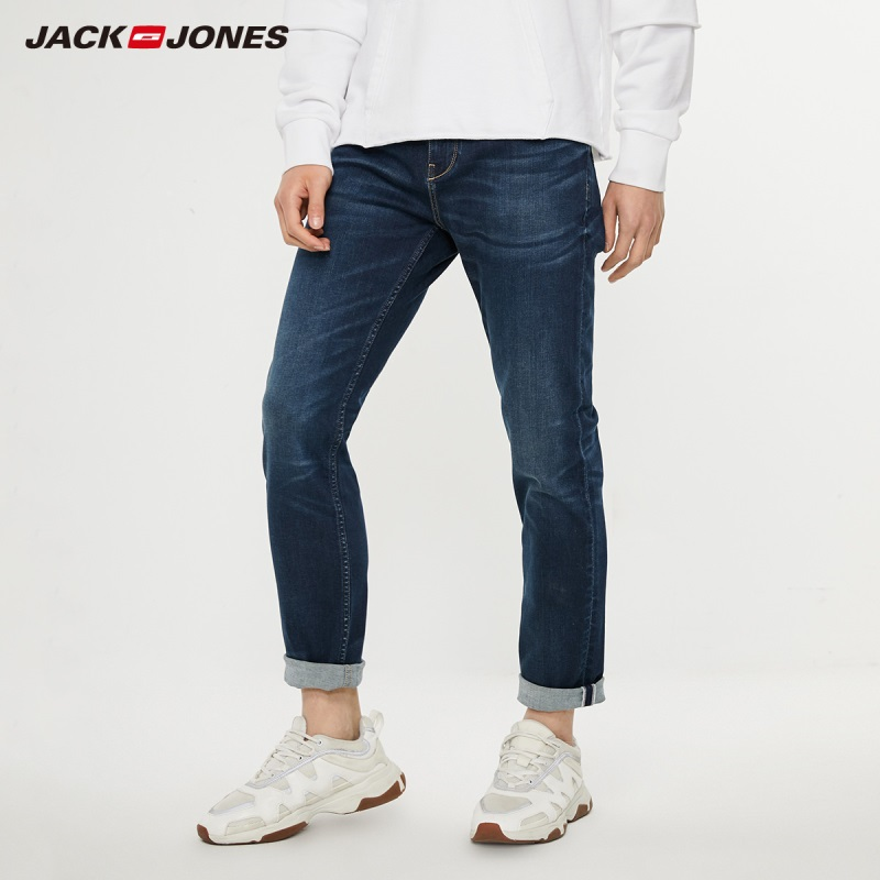 JackJones Men's Cotton Stretch Jeans Denim Pants Menswear Streetwear 219332531