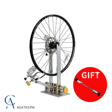 Bicycle-Wheel Truing-Stand Wheel-Repair-Tools Road-Bike PROFESSIONAL with Dial-Indicator-Gauge-Set