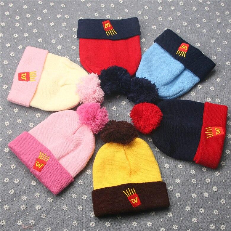 Children Winter Warm Knitted Beanie Cap Scarf Gloves Set Three-piece Boys Girls Smile Scarf Neck Keep Warm Scarves Hat Gloves