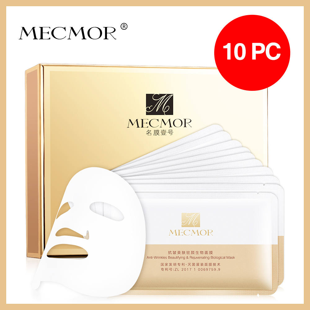 SPA Anti-Wrinkles Rejuvenating & Anti-ageing Facial Mask MECMOR Organic Natural Additive Free Pregnant Women Face Usable 10PC