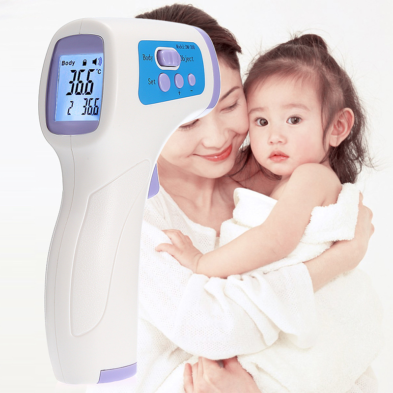 Electronic Thermometer Handheld Infrared Baby Forehead Non-Contact Thermometer English Version Description image