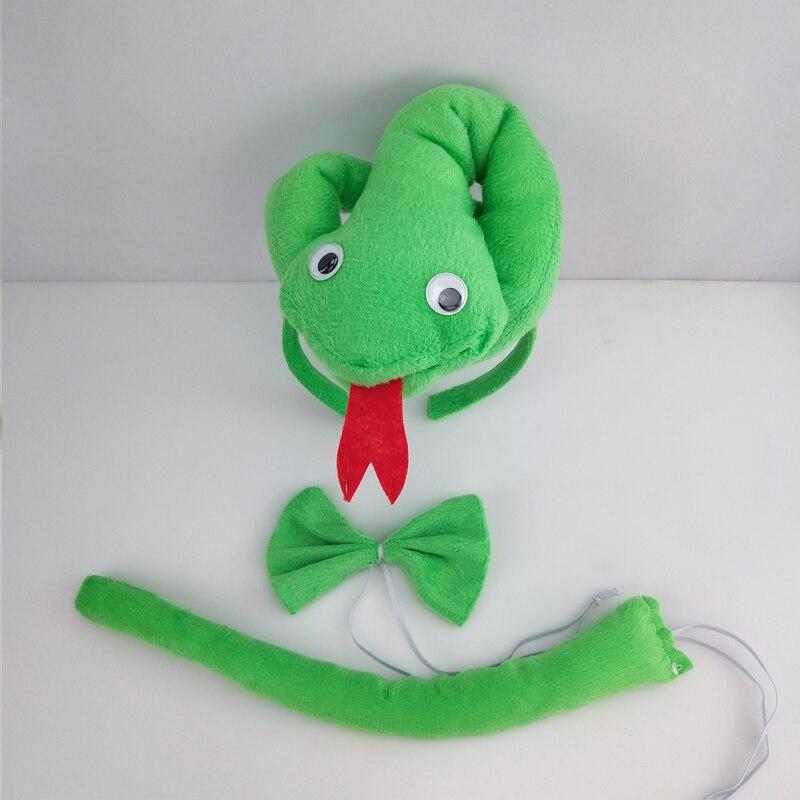 Детская повязка на голову с ушками животных для мальчиков и девочек; комплект с галстуком-бабочкой и хвостом для детей и взрослых; карнавальный костюм; вечерние аксессуары для волос - Цвет: 45