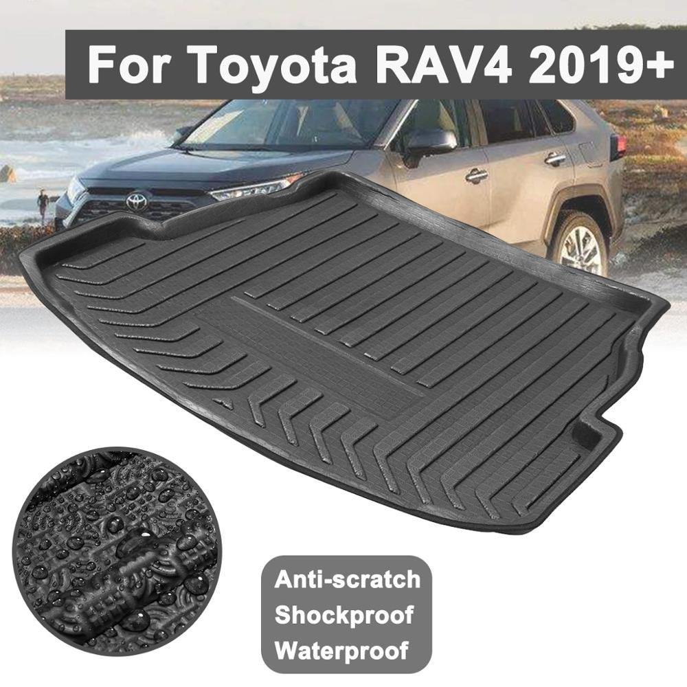 For Toyota RAV4 2019  Car Rear Trunk Boot Liner Cargo Mat Luggage Tray Floor Carpet Mud Protector Replacement Car Accessories